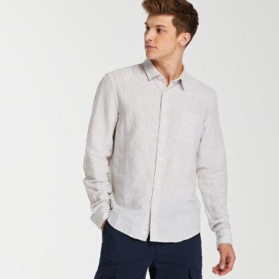 Men's Mill River Slim Fit Linen Blend Shirt