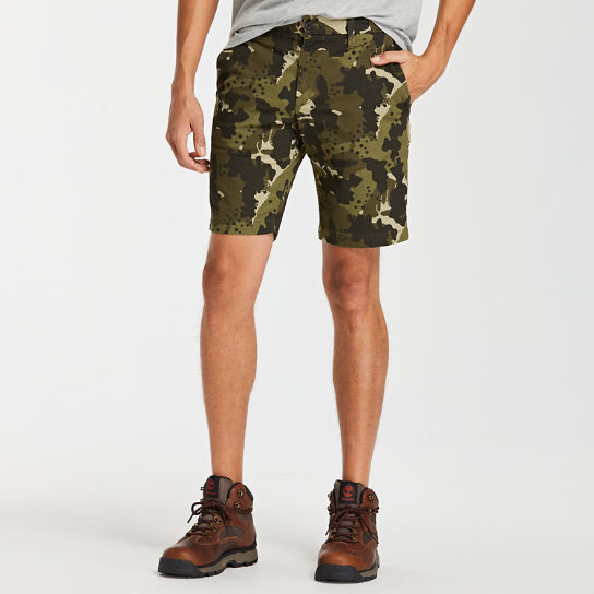 Men's Squam Lake Straight Fit Stretch Printed Twill Short