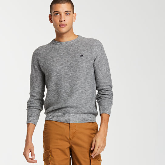 Men's Slub Crew Neck Sweater