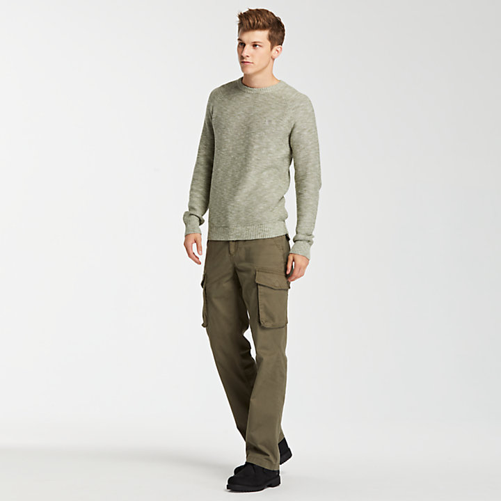 Men's Slub Crew Neck Sweater-