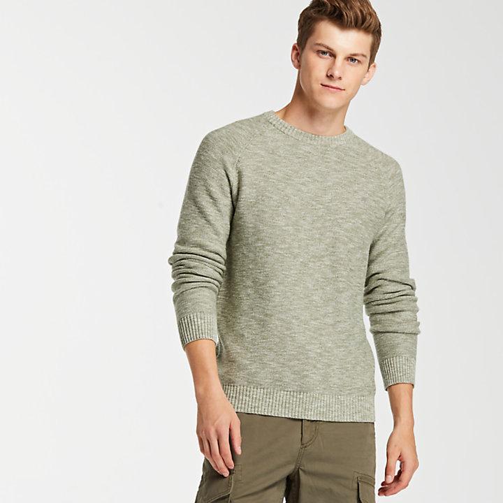 Men's Slub Crew Neck Sweater-
