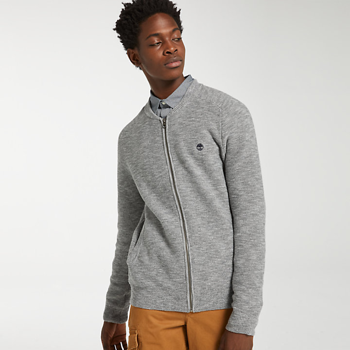 Men's Slub Full-Zip Sweater-