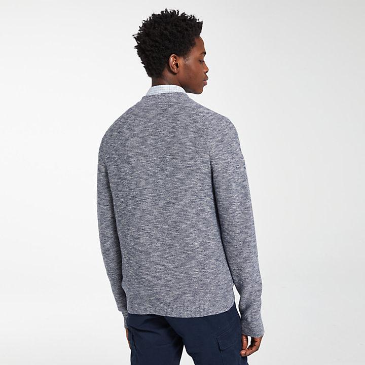 Men's Slub Full-Zip Sweater-