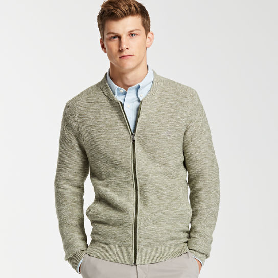 Men's Slub Full-Zip Sweater