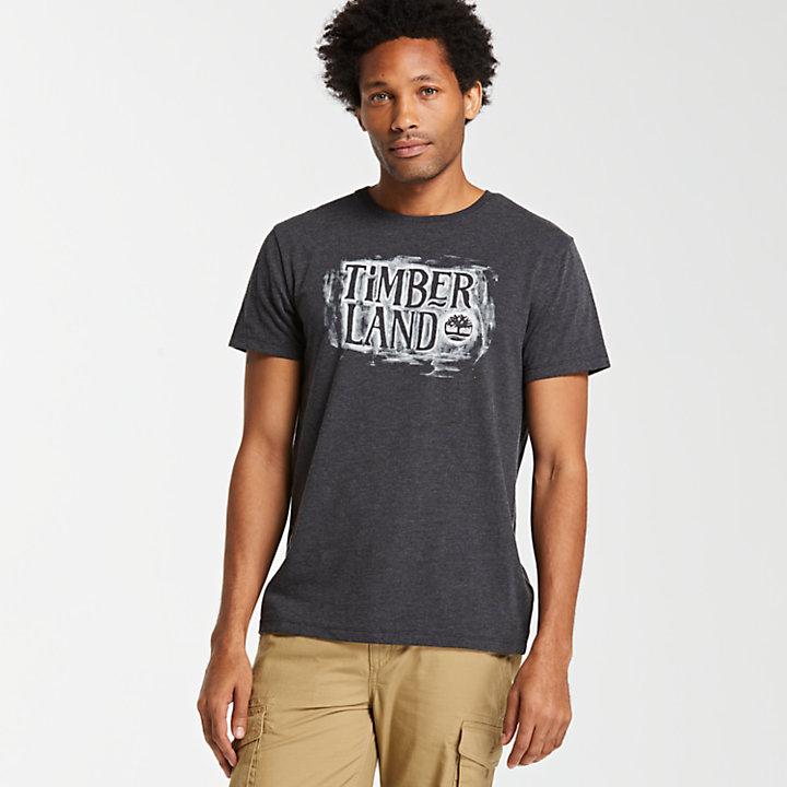 Men's Graphite Sketch Logo Ringer T-Shirt-
