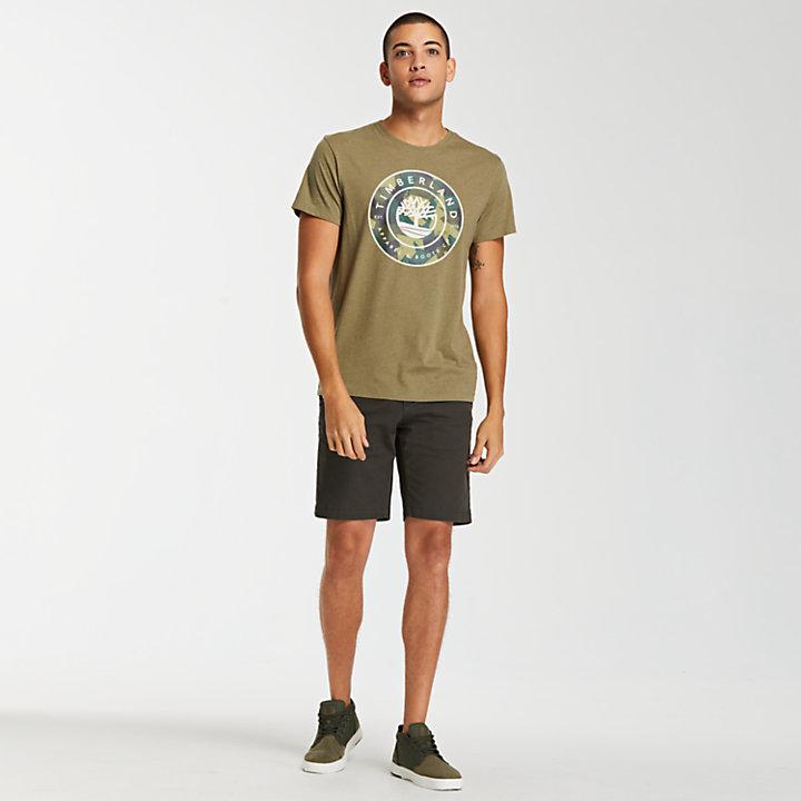 Men's Circular Camo Logo T-Shirt-