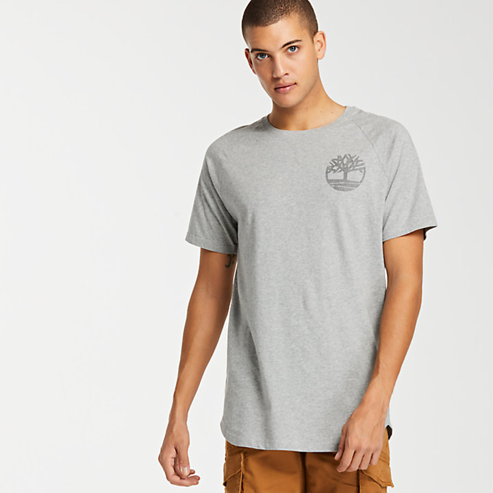 Men's Scoop Hem Graphic Logo T-Shirt-