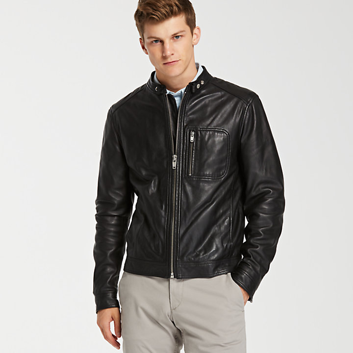 Men's Kinsman Mountain Leather Bomber Jacket-