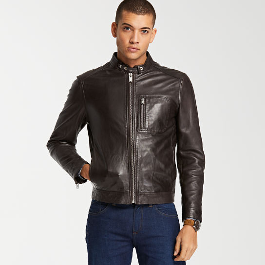 Men's Kinsman Mountain Leather Bomber Jacket