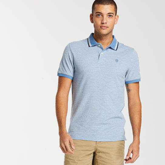 Men's Slim Fit Tipped Pique Polo Shirt