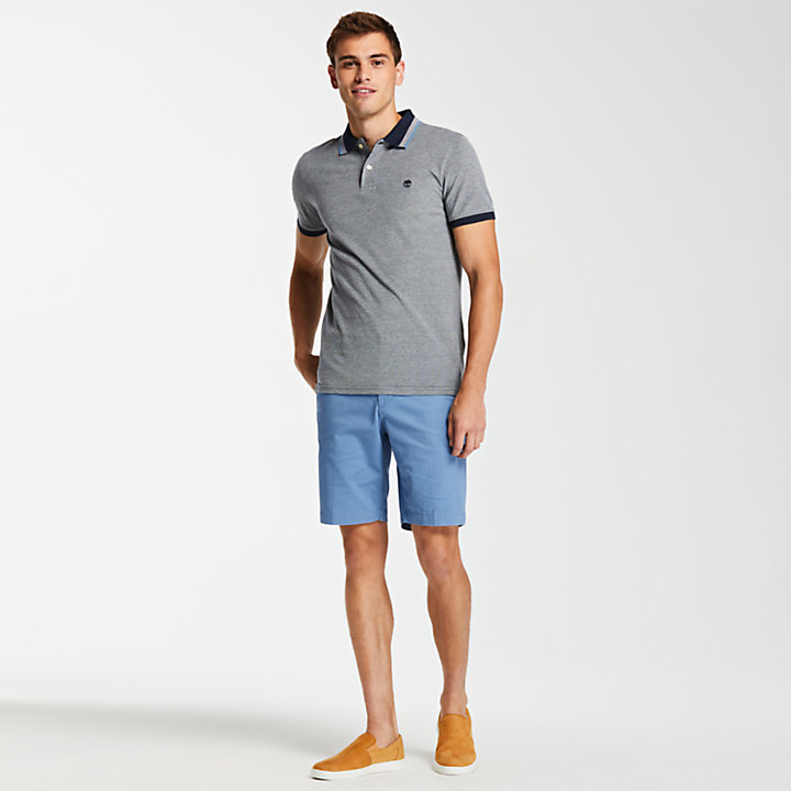 Men's Slim Fit Tipped Pique Polo Shirt-