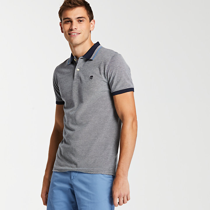Men's Slim Fit Tipped Pique Polo Shirt-