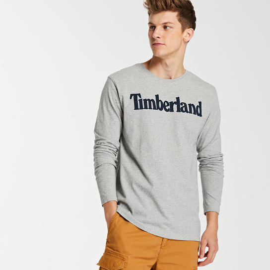 Men's Long Sleeve Linear Logo T-Shirt