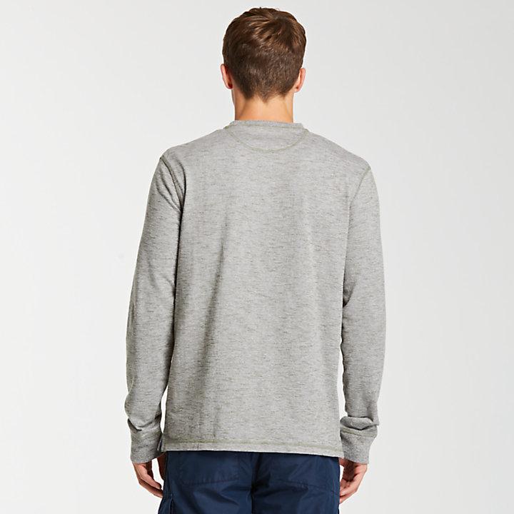 Men's Long Sleeve Heathered Henley Shirt-