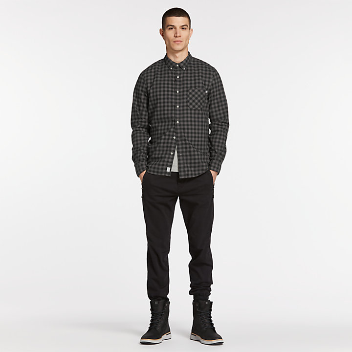 Men's Essential Slim Fit Plaid Shirt-