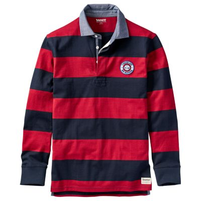 Timberland Men S Long Sleeve Striped Rugby Shirt