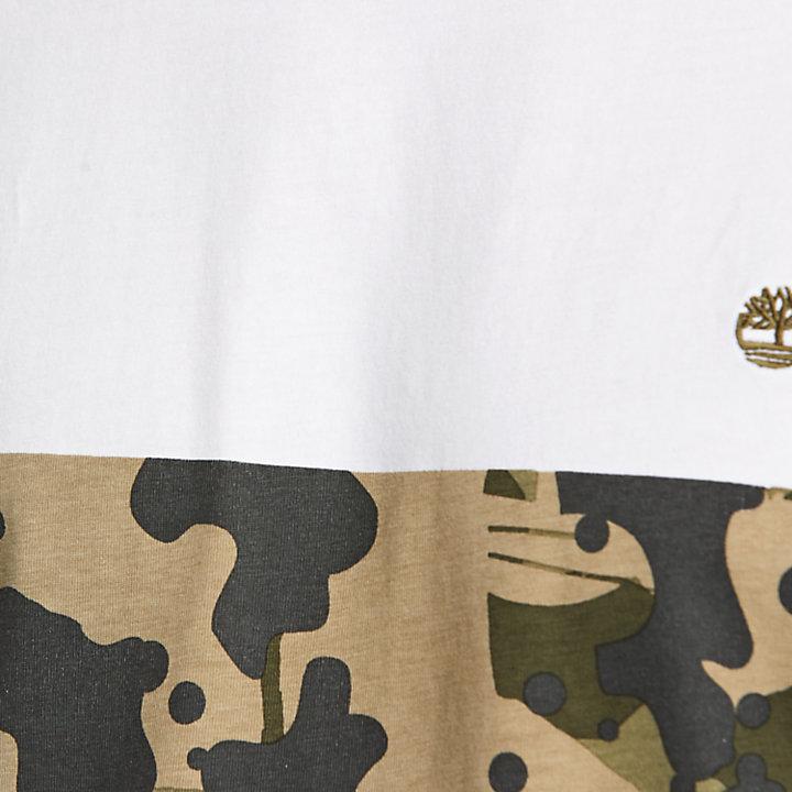 Men's Color Block Camo T-Shirt-