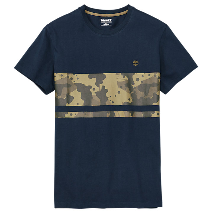 Men's Color Block Camo T-Shirt-