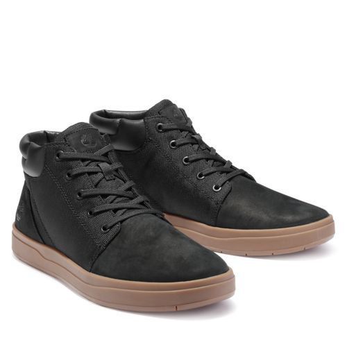 Men's Davis Square Leather Collar Chukka Shoes-