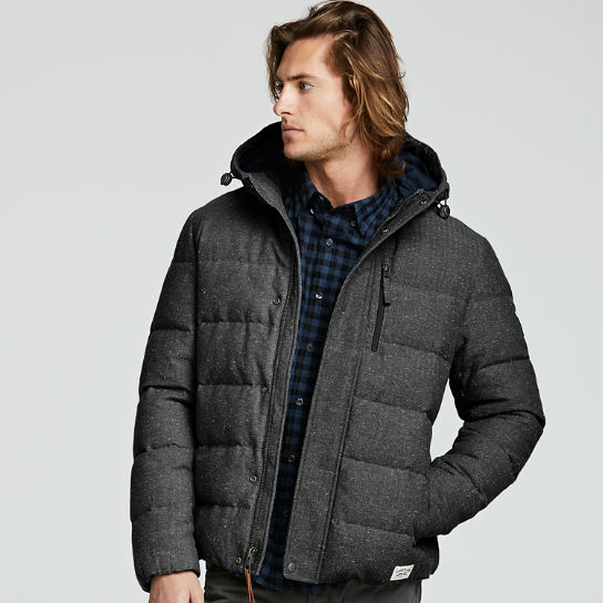 Men's Goose Eye Twill Down Jacket