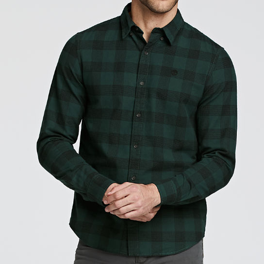 Men's Slim Fit Herringbone Check Shirt
