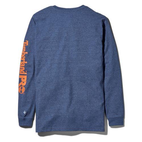Men's Timberland PRO® Big & Tall Base Plate Long-Sleeve Wicking T-Shirt-