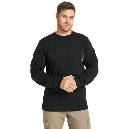 Men's Timberland PRO® Big & Tall Base Plate Long-Sleeve Wicking T-Shirt