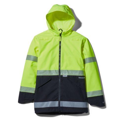 Men's Big & Tall Work Sight High-Visibility Waterproof Jacket-