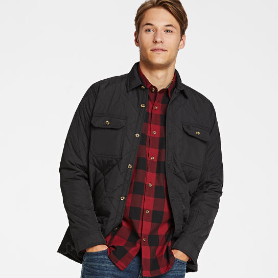 Mens Cutler River Quilted Shirt Jacket Timberland Us Store