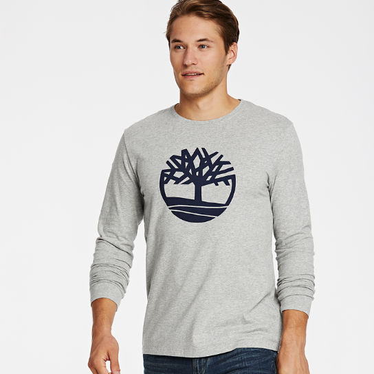 Men's Long Sleeve Tree Logo Ringer T-Shirt