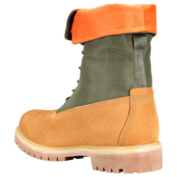 Men's Mixed-Media Gaiter Boots-