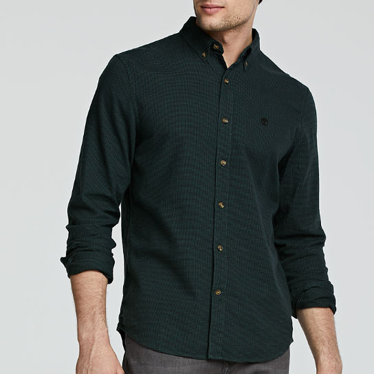 Men's Slim Fit Twill Houndstooth Shirt