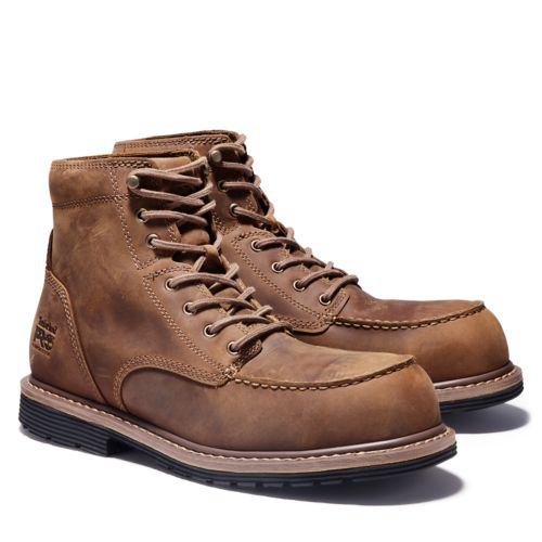 """Men's Timberland PRO® Millworks 6"""" Moc Comp Toe Boots-"""