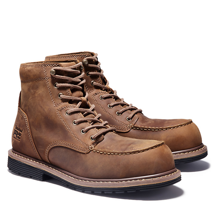 "Men's Timberland PRO® Millworks 6"" Moc Comp Toe Boots-"