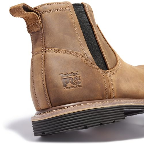 Men's Timberland PRO® Millworks Chelsea Comp Toe Boots-