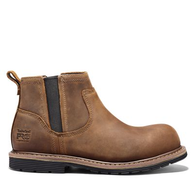 Timberland Men S Timberland Pro Millworks Chelsea Comp Toe Boots