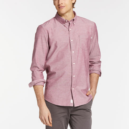 Men's Long Sleeve Pleasant River Oxford Shirt