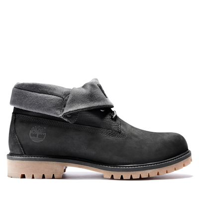 Black Nubuck Timberland Men/'s Heritage Roll-Top Ankle Boots