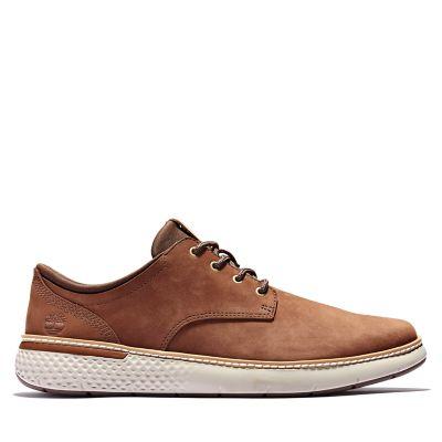 Men's Cross Mark Lined Leather Sneakers