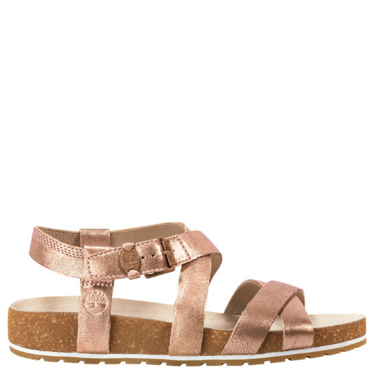 Timberland Women's Malibu Waves Ankle Strap Sandal Sort