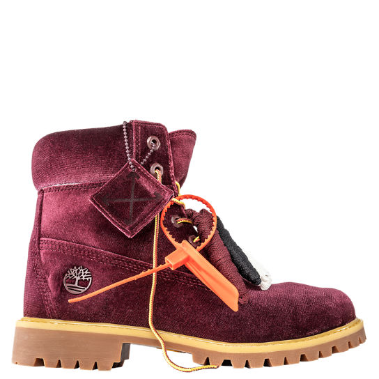 Women's Timberland X Off-White 6-Inch Textile Boots