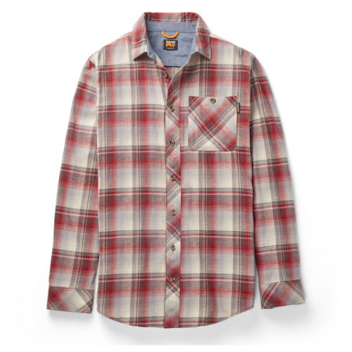 Men's Timberland PRO® Woodfort Midweight Flannel Work Shirt-