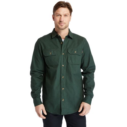 Men's Timberland PRO® Woodfort Heavyweight Flannel Work Shirt-