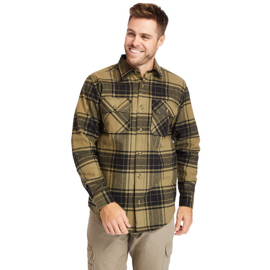 Men's Timberland PRO® Woodfort Heavyweight Flannel Work Shirt