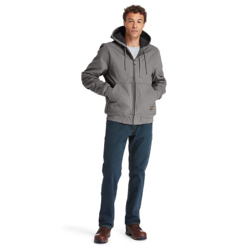 Men's Timberland PRO® Gritman Lined, Hooded Canvas Jacket-