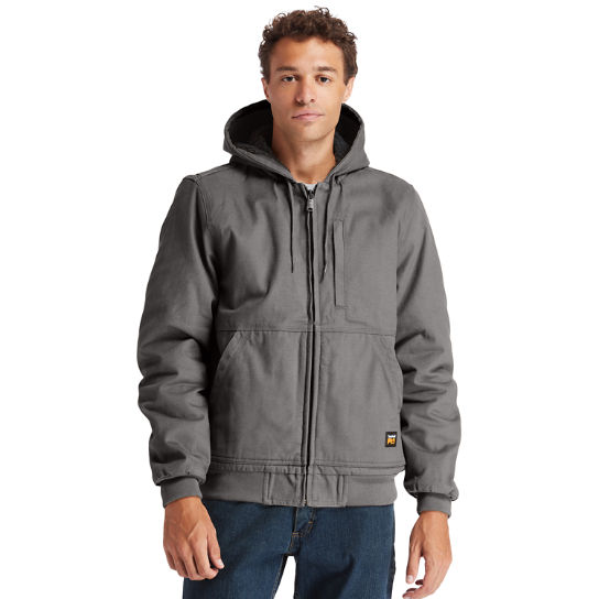 Men's Timberland PRO® Gritman Lined, Hooded Canvas Jacket