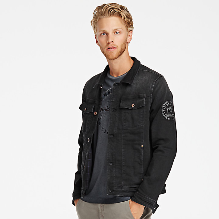 Men's Black Denim Trucker Jacket-