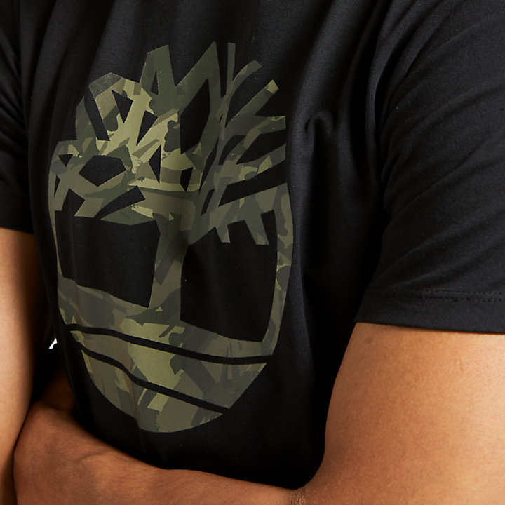 Men's Camo Tree Logo T-Shirt-