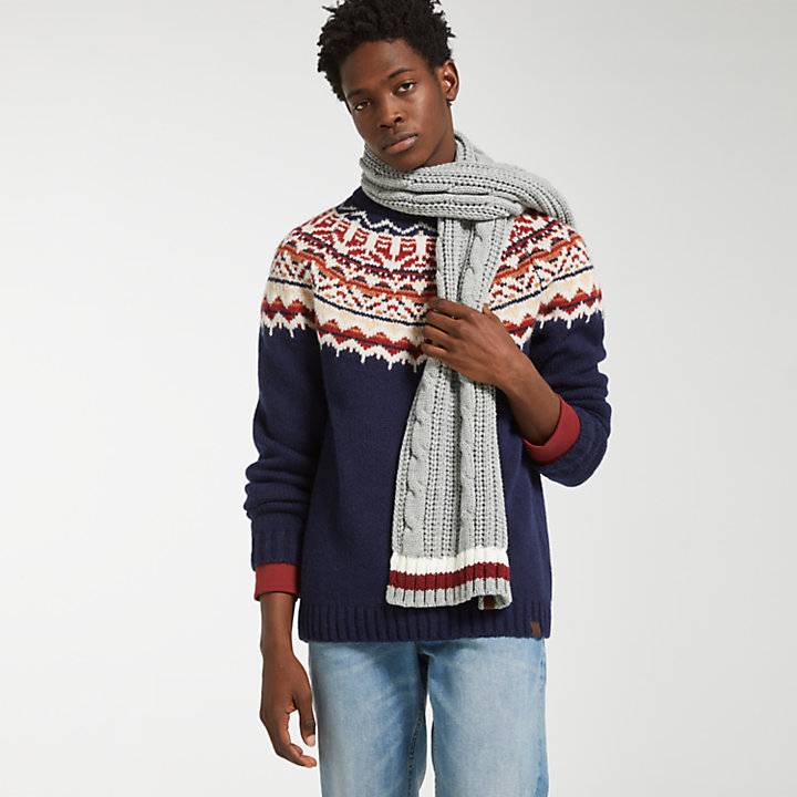 Men's Fair Isle Wool Sweater-