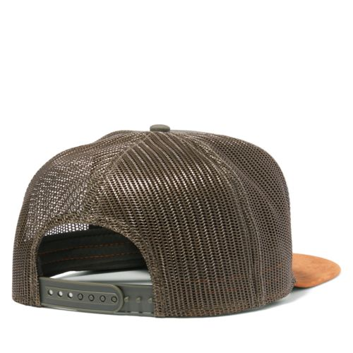Men's Faux Suede-Brim Trucker Hat-